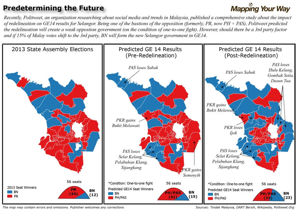 Selangor Before and After Redelineation