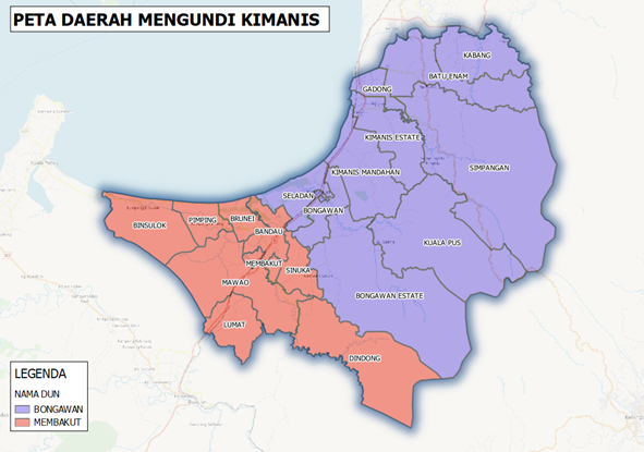 Polling Districts of Kimanis from 2016 till present